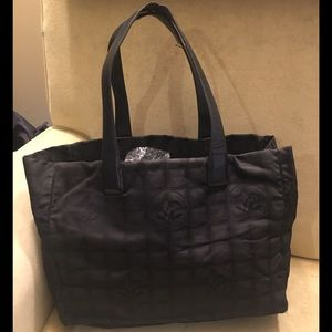 Chanel Travel Line Black tote